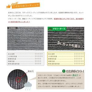 人工芝 Memory Turf メモリーターフ 形状記憶 リアル ロール 2m × 5m ベランダ 庭 高品質 日本製 テラス 暑さ対策 YT-P302|doanosoto|10