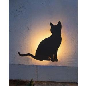 デコウォールライト 猫1 LED 室外灯 壁面 動物 灯り 照明 アニマル 店舗 ウエルカムライト GYO G254 377 YT-205|doanosoto