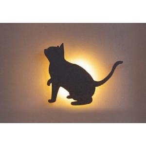デコウォールライト 猫2 LED 室外灯 壁面 動物 灯り 照明 アニマル 店舗 ウエルカムライト GYO G254 378 YT-205|doanosoto