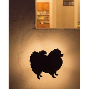 デコウォールライト ポメラニアン LED 室外灯 壁面 動物 灯り 照明 アニマル 店舗 ウエルカムライト GYO G254 645 YT-206 doanosoto