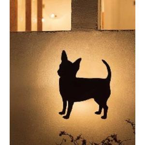 デコウォールライト チワワ LED 室外灯 壁面 動物 灯り 照明 アニマル 店舗 ウエルカムライト GYOG254 648 YT-206 doanosoto