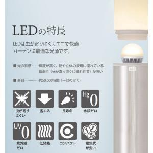 アートウッドポールライト LED 100V 14型 木目調 庭 照明 ポーチ 全3色 TK-P955|doanosoto|05