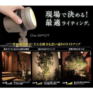 アウトレット 照明 100V LED調光ライト De-SPOT 5m プラグ付 狭角タイプ ブラック スポットライト 庭 ライティング TK-989 (HFE-W15K)|doanosoto
