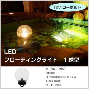 ウォーターライティング 12V ローボルト LEDフローティングライト 1球タイプ 電球色 水中ライト 池 庭 ガーデン 水 タカショー TK-1133|doanosoto