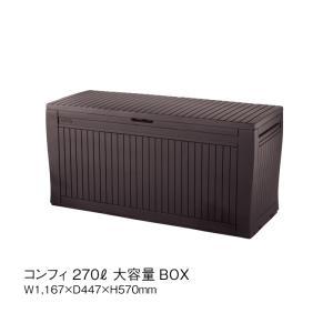 収納 BOX 大容量 キャスター おしゃれ 椅子 整理 片付け KETER ケター COMFY コンフィ ウッド調 GA-348|doanosoto