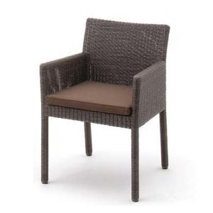 テーブルセット 庭座 人工ラタン 3点セット ダークブラウン 椅子 ガーデンファニチャー LoomGarden ロムガーデン タカショー TK-P1198|doanosoto|02