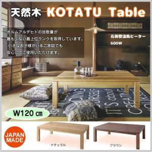 コタツ テーブル 長方形 幅120cm 全2色 インテリア 家具 温風ヒーター 600W 天然木 和室 洋室 オールシーズン AZ24-194 ( KTJ-120 ) doanosoto