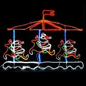 LED イルミネーション ディスプレイ サンタ 飾り 照明 ライティング クリスマス メリーゴーランド L2DM143 CR-72|doanosoto