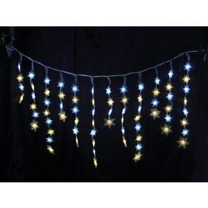 イルミネーション ディスプレイ 飾り 照明 ライティング クリスマス 雪 結晶 LED スノーフレーク つらら 白・電球色 L2DM248 CR-81|doanosoto