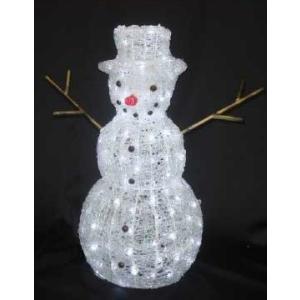 イルミネーション LED ディスプレイ 飾り ライティング クリスマス 雪だるま スノーマン L3D140 CR-84 照明 ライト イベント ガーデン|doanosoto