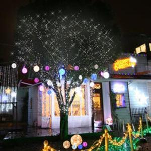 イルミネーション ディスプレイ 飾り 照明 ライティング クリスマス LEDクリスタルボールライト 20cm 青色 ピンク色 CR-87|doanosoto