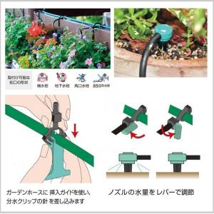 自動潅水システム 散水 タイマー 留守 花 植物 水道 庭 家庭菜園 水やり ガーデンアクセサリー 庭玄 タカショー TK-1269|doanosoto|04