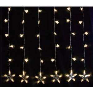 イルミネーション LED スター カーテン 6連 LDCM051 CR-63 イベント 照明 ライト クリスマス|doanosoto