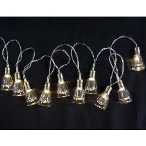 室内用 イルミネーション LED グラス ストリングライトライト 10球 LDCM081 CR-98 クリスマス イベント 照明 ライト|doanosoto