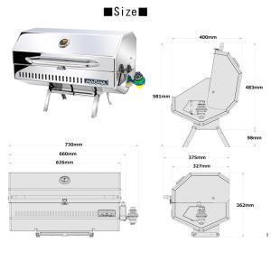 グリル バーベキュー ステンレス グリル BBQ キャンプ アウトドア ガス専用 MAGMA マグマ Monterey モントレイII GA-253(MT101) doanosoto 02
