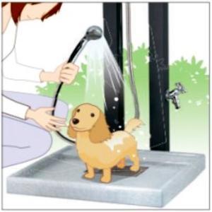 立水栓 水栓柱 混合栓 2口 シャワー 冷水 温水 水道 庭 ガーデン 全3色 ユニソン Spre スプレ Spre60 MYT-259|doanosoto|04
