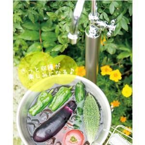 立水栓 水栓柱 双口 2口 二口 ウォータースタンド 水道 全2色 庭 野菜 ガーデン 水回り ユニソン FINO フィーノスタンド MYT-P267|doanosoto|04
