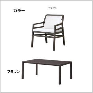 テーブル 5点セット ブラウン 庭 クッション チェア4点 ガーデンファニチャー NARDI ナルディ アリア タカショー TK-1202|doanosoto|02