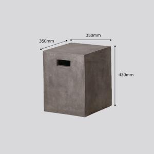 テーブル チェア 椅子 3点セット セメント ガーデンファニチャー セメント Saveri サベリ Dessau デッサウ 庭 テラス モダン タカショー TK-P1243 doanosoto 06