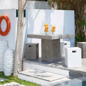 テーブル チェア 椅子 3点セット セメント ガーデンファニチャー セメント Saveri サベリ Dessau デッサウ 庭 テラス モダン タカショー TK-P1243 doanosoto 07