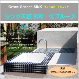 GRACE GARDEN SINK グレイスガーデンシンク 屋外キッチン シンク天板のみ ブルー 800 流し台 ガーデニング BBQ 庭 GA-334|doanosoto