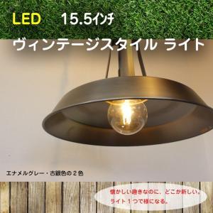 LED 照明 15.5インチ ヴィンテージ スタイルライト モダン シンプル インダストリアル風 グレー 銀 カフェ ディスプレイ インテリア 全2色 鎖  JR|doanosoto