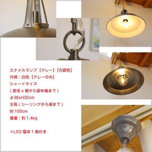 LED 照明 15.5インチ ヴィンテージ スタイルライト モダン シンプル インダストリアル風 グレー 銀 カフェ ディスプレイ インテリア 全2色 鎖  JR|doanosoto|02