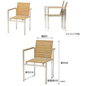 テーブル チェア ダイニングテーブル アームチェア 椅子 5点セット ガーデンファニチャー 天然木 Teak Style チークスタイル ライズ タカショー TK-p1241|doanosoto|02