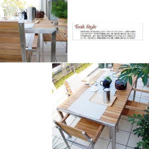 テーブル チェア ダイニングテーブル アームチェア 椅子 5点セット ガーデンファニチャー 天然木 Teak Style チークスタイル ライズ タカショー TK-p1241|doanosoto|05