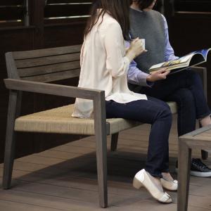 ローテーブル コーヒーテーブル ソファ 椅子 3点セット ガーデンファニチャー 天然木 ANTIQUE TONE アンティークトーン ミカド タカショー TK-P1233|doanosoto|04