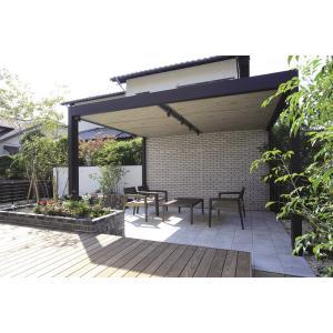 ローテーブル コーヒーテーブル ソファ 椅子 3点セット ガーデンファニチャー 天然木 ANTIQUE TONE アンティークトーン ミカド タカショー TK-P1233|doanosoto|07