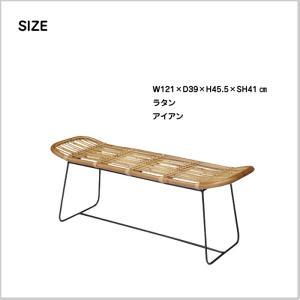 ベンチ チェア ラタン アイアン 椅子 庭 テラス インテリア 長椅子 ディスプレイ 家具 AZ2-12 TTF-923 doanosoto 02