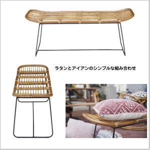 ベンチ チェア ラタン アイアン 椅子 庭 テラス インテリア 長椅子 ディスプレイ 家具 AZ2-12 TTF-923 doanosoto 03