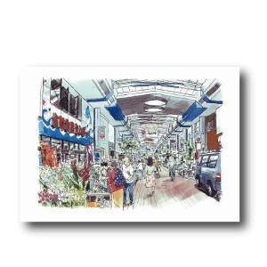 にいがた百景/ポストカード 本町市場|doc-furusatowari