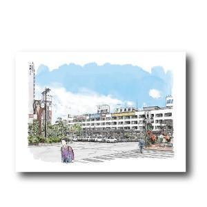 にいがた百景/ポストカード 新潟の陸の玄関口 新潟駅(万代口)|doc-furusatowari