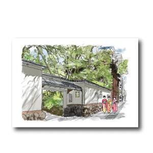 にいがた百景/ポストカード お座敷へ向かい、花街をそぞろ歩く古町芸妓|doc-furusatowari