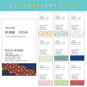 にいがたもよう名刺【10柄ミックス 100枚】名刺作成 おしゃれ デザイン doc-furusatowari