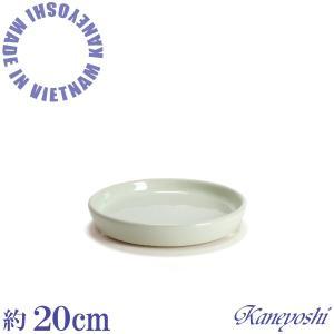 植木鉢用 皿 緑色 陶器 おしゃれ サイズ 20cm D50−20 ライトグリーン|docchan