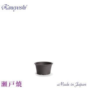 盆栽販売 山野草 植木鉢 陶器 おしゃれ サイズ 17cm 瀬戸焼 山草鉢 KN0016 ソリ型 5.5号 ウ泥