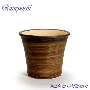 植木鉢 陶器 おしゃれ サイズ 26cm 安くて丈夫 ブーケ ブラウン 8号|docchan