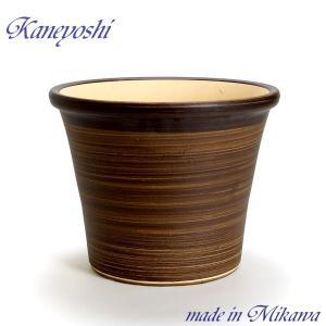 植木鉢 陶器 おしゃれ サイズ 33cm 安くて丈夫 ブーケ ブラウン 10号|docchan