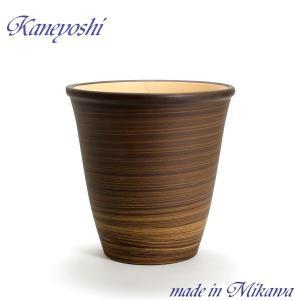 植木鉢 陶器 おしゃれ サイズ 25cm 安くて丈夫 小春 ブラウン 8号|docchan