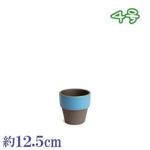 植木鉢 陶器 おしゃれ サイズ 12.5cm 和ライフ モカつゆくさ 4号 docchan