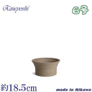 植木鉢 陶器 おしゃれ サイズ 18.5cm 安くて丈夫 雅 モカ 6号|docchan