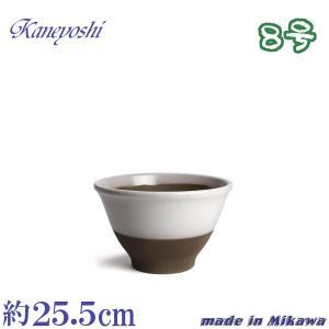 植木鉢 陶器 おしゃれ サイズ 25.5cm 安くて丈夫 アリア 白釉 8号|docchan