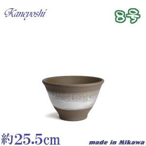 植木鉢 陶器 おしゃれ サイズ 25.5cm 安くて丈夫 アリア ホワイトブラッシュ 8号|docchan