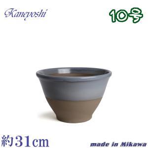 植木鉢 陶器 おしゃれ サイズ 31cm 安くて丈夫 アリア ローズグレー 10号|docchan
