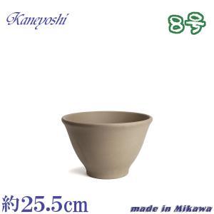 植木鉢 陶器 おしゃれ サイズ 25.5cm 安くて丈夫 フラワーボール モカ8号|docchan