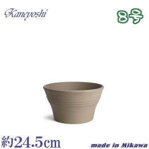 植木鉢 陶器 おしゃれ サイズ 24.5cm 安くて丈夫 ビオラ モカ 8号|docchan