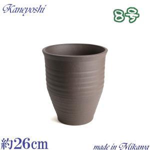 植木鉢 陶器 おしゃれ サイズ 25cm 安くて丈夫 PR ブラウン 8号|docchan
